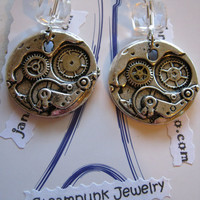 Steampunk Gears Earrings