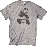 Panda Bear Shirt Tonal Graphic Animal Print cool T-shirt