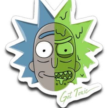 Get Toxic Rick and Morty Sticker Decal