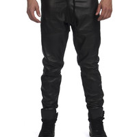 Dark Renaissance Leather Joggers