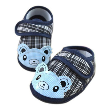 SIF Newborn Shoe Girl Boy Soft Sole Crib Toddler Shoes Canvas Sneaker First Walker Mar 29