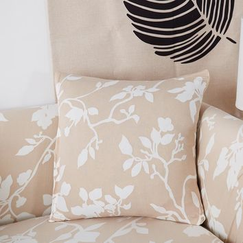 45x45cm printing floral Pillow case Cover modern cushion Covers elastic slipcover bedding set cover match sofa home decoration