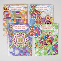 Adult Coloring Book Geometric - 4 Titles Case Pack 48