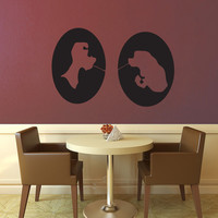 Lady and the Tramp Cameo Set - Wall Vinyl - Medium