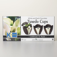 KANE CANDY WHITE AND DARK CHOCOLATE TUXEDO CUPS BOX