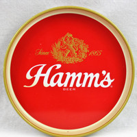 Vintage 1970s Hamm's Beer Tray, Serving Tray