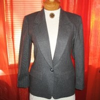 PENDELTON Jacket GRAY  WOOL W POCKETS Lined SIZE 6 P ! MADE IN USA !