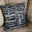 14x14 Harry Potter Spells Throw Pillow Cover