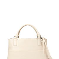FOREVER 21 Classic Faux Leather Satchel Cream One