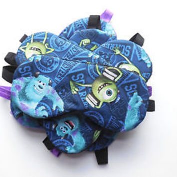 Sleep Mask Monsters Inc Blindfold Boy Girl Eye Shade Mike Sully Gift Night Cover