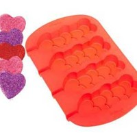 Silicone Soap Mold- Stacking Hearts