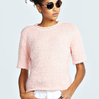 Willow Short Sleeve Fluffy Jumper