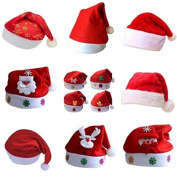Kids Baby Christmas Hat Santa Claus Reindeer Snowman Fashion Party Caps For Boys Girls Christmas Gifts