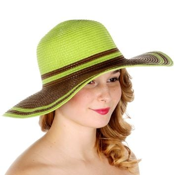 Two Tone Colorful Sun Hat
