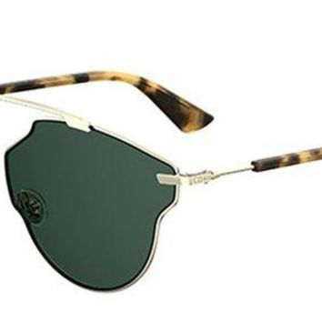 ONETOW New Christian Dior So Real Pop 3YG/QT Light gold havana/green Sunglasses