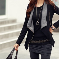 New hot sale fashion winter women jacket long sleeve sweater parka wadded plus size coat