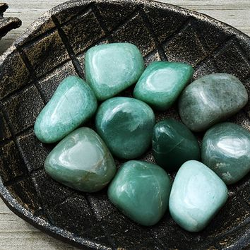 AVENTURINE Lucky Talisman Stone for Prosperity, Wealth & Success, Green Indian Jade