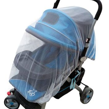 Summer Safe Baby Carriage Insect Full Cover Mosquito Net Baby Stroller Bed Netti moustiquaire Elastic stretches easy to attach