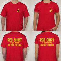 Red Shirt Crewmen - Star Trek Inspired T-Shirt, Men's & Ladies' Cut!