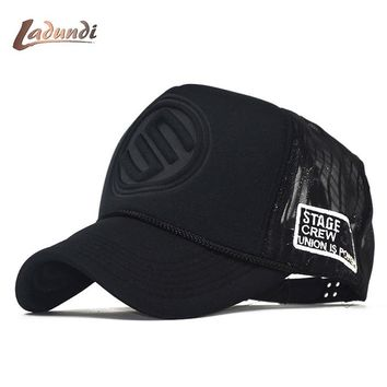 Trendy Winter Jacket LADUNDI 2018 New Hip Hop Black leopard Print Curved Baseball Caps Summer Mesh Snapback Hats For Women Men casquette Trucker Cap AT_92_12