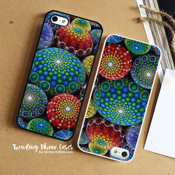 Jewel Drop Mandala Stone Collection 1  iPhone Case Cover for iPhone 6 6 Plus 5s 5 5c 4s 4 Case