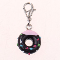 New Arrival mini keychain doughnut donut cute key chain llaveros porte clef key ring gift for children