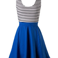 Sailor Stripes Dress - Royal
