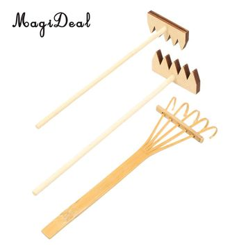 MagiDeal 3Pieces Rake Meditation Accessory for Zen Garden Sand DIY Ornament Decor for Home Decoration Shops Hotels Decoration