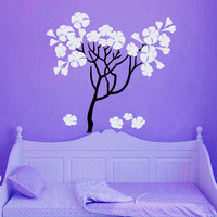 Wall Decals Vinyl Decal Sticker Tree Flowers Blossom Bloom Trees  Nature Home Decor Room Bedroom Living Room  Murals ML48