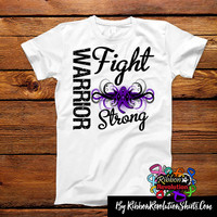 Pancreatic Cancer Warrior Fight Strong Shirts (Lupus, Cystic Fibrosis, Crohn's Disease, Chiari Malformation)