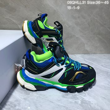 KUYOU Balenciaga Sneaker Tess.s.Gomma 3.0 Running Shoes Black Blue Green