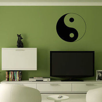 Wall Mural Vinyl Decal Sticker Yin Yang AL359