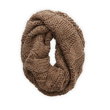 Aerie Open Knit Circle Scarf, Jean Brown Heather | Aerie for American Eagle