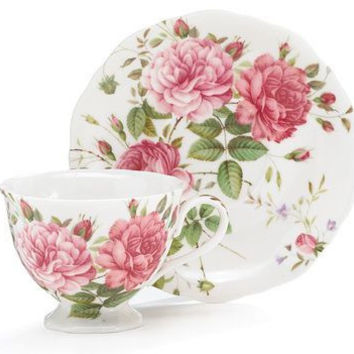 Saddlebrooke Porcelain Teacup and Saucer