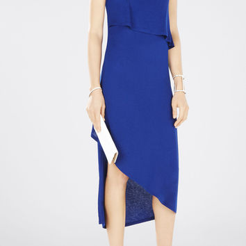 Kyrie Sleeveless Asymmetrical Layered Dress - Blue