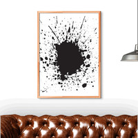 Splash Wall Art | Minimalist Poster | Printable Art scalable to ALL SIZES