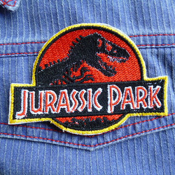 Jurassic Park Logo iron-on patch