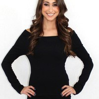 Take Me There Off The Shoulder Bodycon Sweater