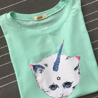 Short Sleeve T-Shirt  Printed with Magical Unicorn