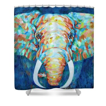 Colorful Elephant - Shower Curtain