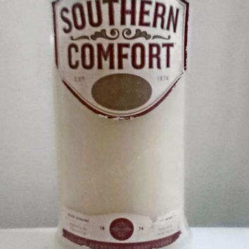 Southern Comfort Recycled Bottle 100% Natural Soy Candle