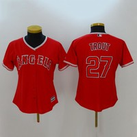 Women's MLB  Buttons Baseball Jersey  HY-17N11Y35D