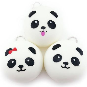 Cute Doll Accessories 10cm Panda Buns Bread Charms Key Bag Cell Phone Panda pendant Plush toys for children kids #YL