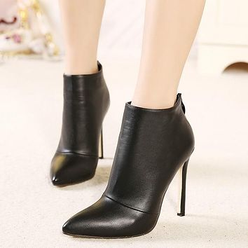 women pumps high heels boots shoes woman pointed toe wedding party dress stiletto ladies short ankle boots