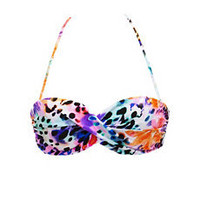 Twisted Floral Halter Bikini Top: Charlotte Russe