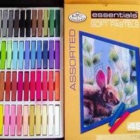 Assorted Soft Chalk Pastels 48 Color Full Size Sticks, Vibrant Colors!