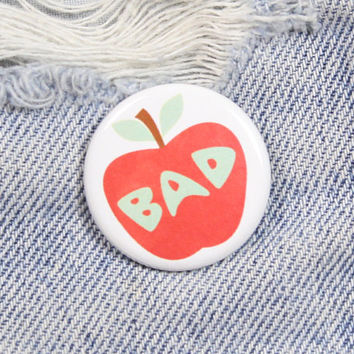 Bad Apple 1.25 Inch Pin Back Button Badge