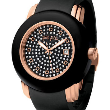 Folli Follie Ladies Urban Spin Deluxe Rose Gold Crystal Watch