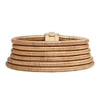 Balmain Gold Stacked Coil Necklace