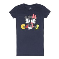 Disney Mickey And Minnie Mouse Graphic Printed Junior T-shirt, Black